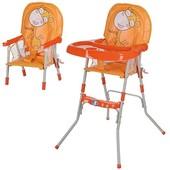 Детский стульчик для кормления GL 217-7,оранжевый
