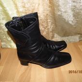 (№і029)зимние кожаные сапожки на цигейке 40 р Tamaris