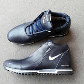 Зимние кроссовки Nike N24 синие кожа