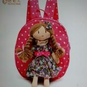 Милый детский рюкзак «Кукла», новый