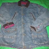 Куртка джинсовая,утеплённая,мужская,р.54-56.Нюанс.