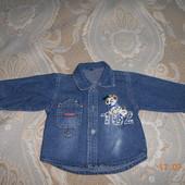 Джинсовая рубашечка для Вашего сыночка, состояние идеальное