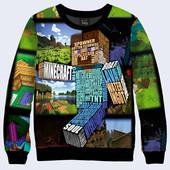 Свитшоты для мужчин и подростков с 3D принтами из игры Майнкрафт Minecraft