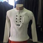 Мужской свитер Threemen белый M L