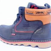 Зимние  мужские  ботинки Levi Ribben Navy размеры 40-45 №levi