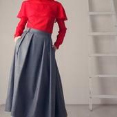 Стильная теплая юбка р.42 46