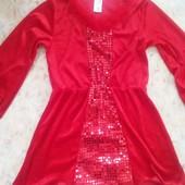 Платье на Хелоуин или Новый год на 7-8-9 лет