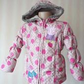 Демисезонная куртка на флисе Пеппа 4-5 лет