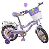 Профи Виолет 14 дюймов велосипед детский двухколесный Profi Violet PV1462 девочки