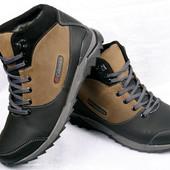 Зимние  мужские ботинки Columbia кожаные  00045