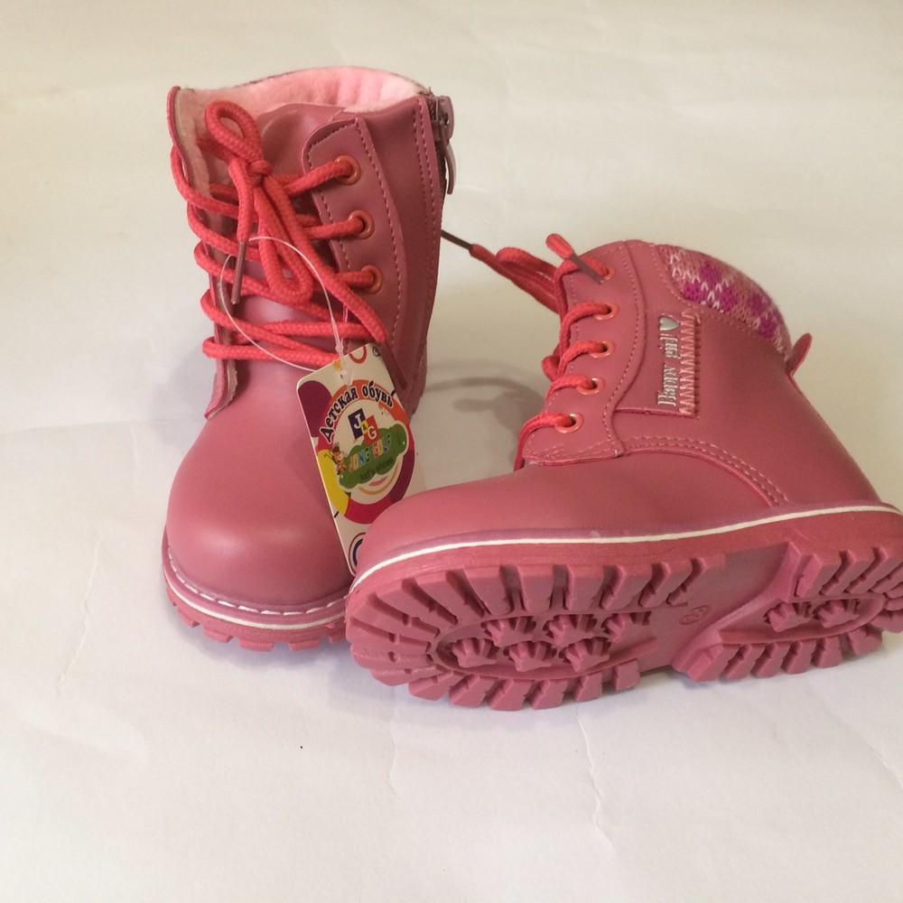 Ботинки розовые зима для девочки фото №9