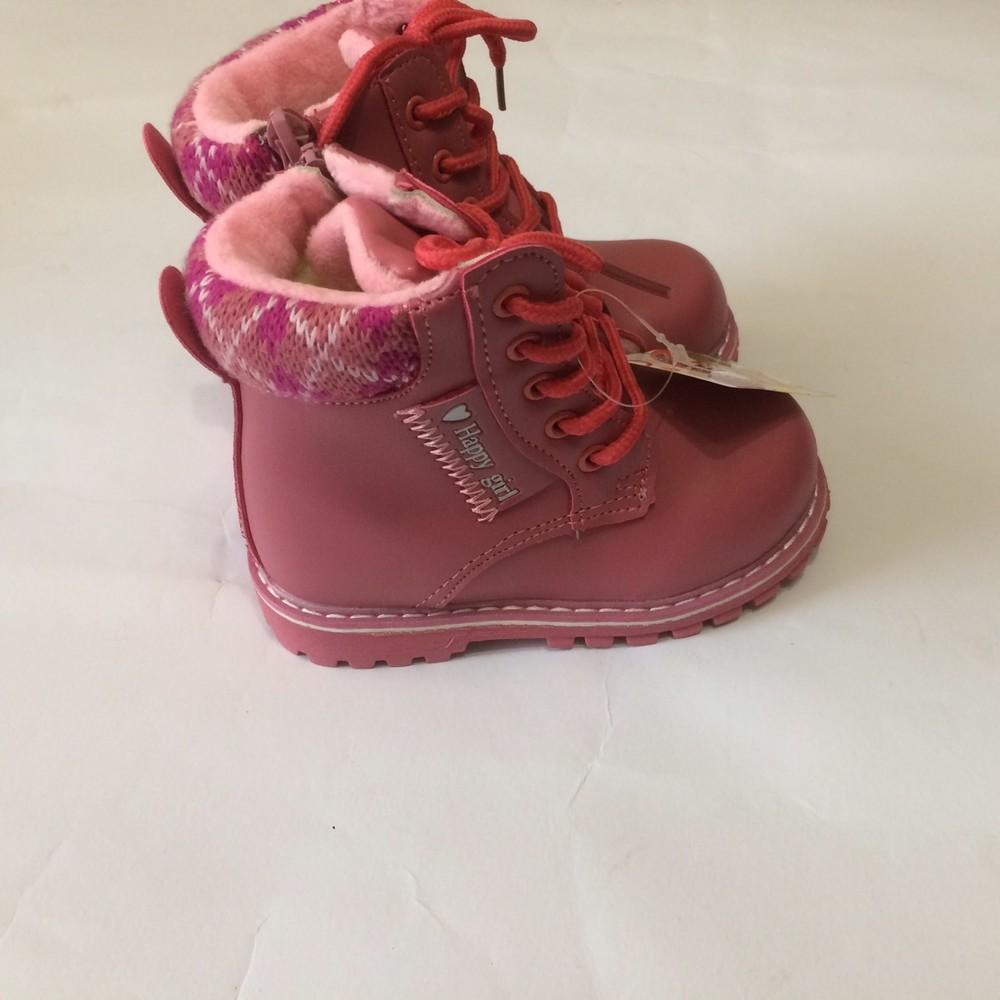 Ботинки розовые зима для девочки фото №2