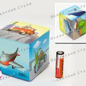 Кубик для купания с колокольчиком-погремушкой, транспорт, погремушка