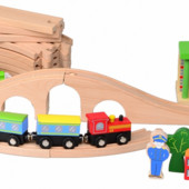 Деревянная железная дорога, Lelin Артикул: 65-031
