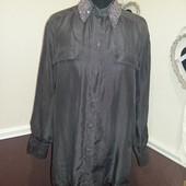Стильная блуза рубашка Шелк Италия