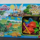 Набор для творчество тесто для лепки Динозавры с формочками