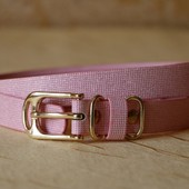 Ремень женский розовый с блестками Tchibo Германия 85х2 см