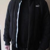Черная мужская куртка puma оригинал