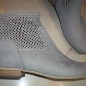 Кожаные фирменные стильные ботинки Gabor 39-39.5 р