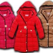 Зимнее пальто для девочки 98-128cм