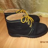 (№і0104)зимние кожаные ботинки 39 р Италия