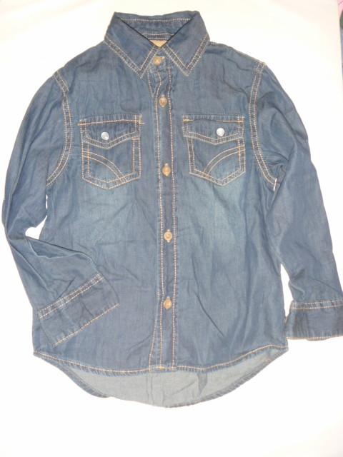 Джинсовая рубашка на 4-5 лет фото №1