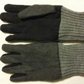 Теплые  перчатки на флисе внутри , сверху войлок. тм такко (германия)