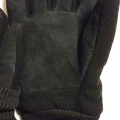 Теплые перчатки на меху . германия , размер 9. внешняя сторона флис , внутрення- замш