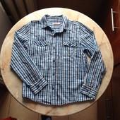 Стильная и яркая рубашка на мальчика фирмы Bluezoo на возраст 12 лет