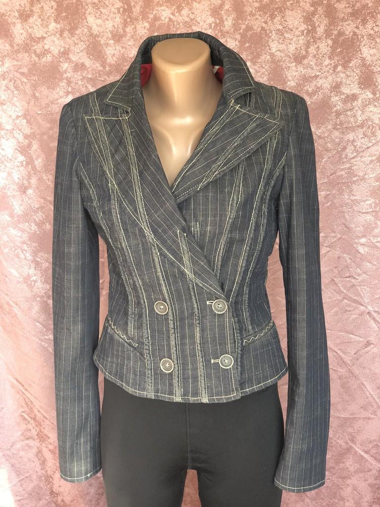 Винтажный приталенный пиджак exte италия оригинал s фото №1