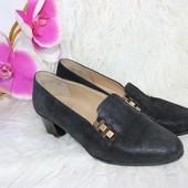 37,5 24см Ara Натуральные кожаные туфли на удобном каблучке