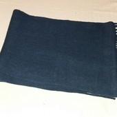 Вязанный мужской шарф ,ТСМ(германия) размер 170 на 30 см , цвет - синий