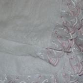 Крыжма теплая, крестильное полотенце для девочки