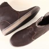 Зимние мужские ботинки сапоги кожа