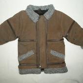 зимняя куртка.  кожушок для двора на 3 года