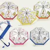 Детский яркий зонт трость грибочком 2-5 л, для мальчика и для девочки. Венгрия)