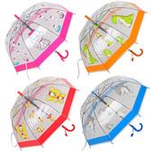 Детский яркий зонт зонтик трость грибочком 2-5 л, для мальчика и для девочки.