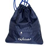 Спортивная качественная сумка для переобувки синяя (W-2827 с)