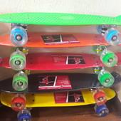Скейт Пенни борд (Penny board) , колеса полиуретановые, светящиеся.