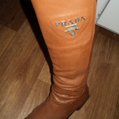 Cапоги натуральная кожа Prada