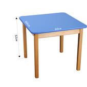 Стол деревянный цветной, Финекс (Синий)