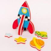 Игровой набор для ванной - 3D модель Ракета (8 деталей)