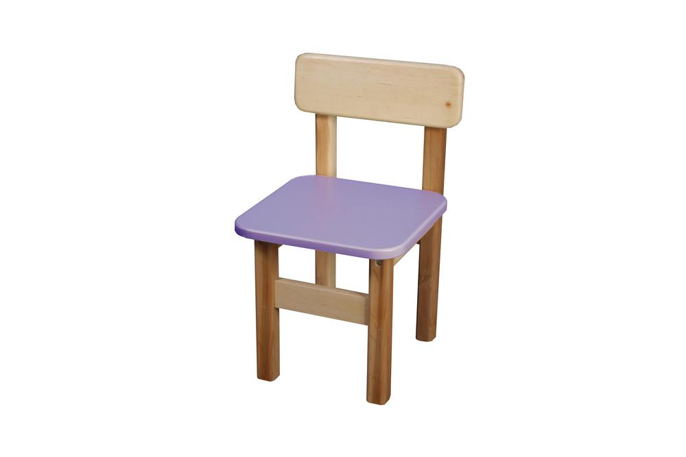 Детский стульчик деревянный цветной, финекс (фиолетовый) фото №1
