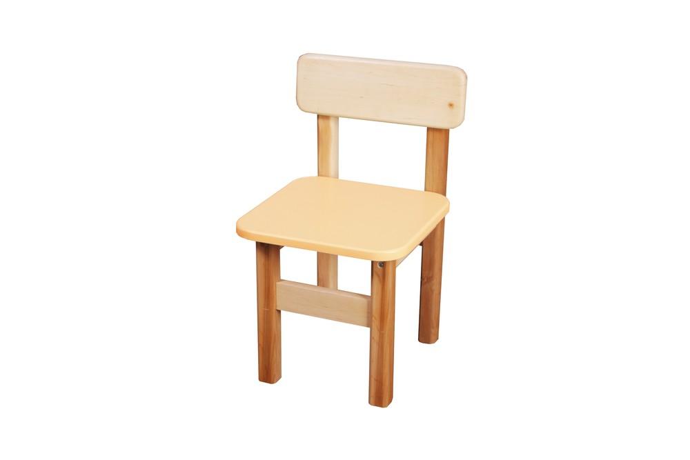 Детский стульчик деревянный цветной, Финекс (Ваниль) фото №1
