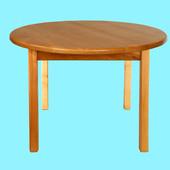 Детский деревянный столик с круглой столешницей, Финекс