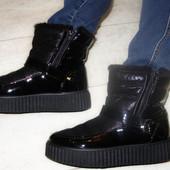 Сапоги полусапожки ботинки женские зима  36-41р.