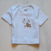 Стильная футболка для мальчика. H&M. Размер 0-1 месяц. Состояние: новой вещи