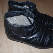 Кожанные зимние ботинки с натт мехом р41 хор сост Новая Цена!!!