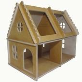 Кукольный дом светлое дерево №2 Руди Д571у дерево домик