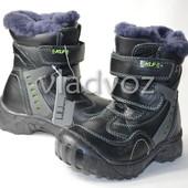 Кожаные зимние сапоги термо ботинки ледоходы на мальчика 27,28,29,30,31,32р.